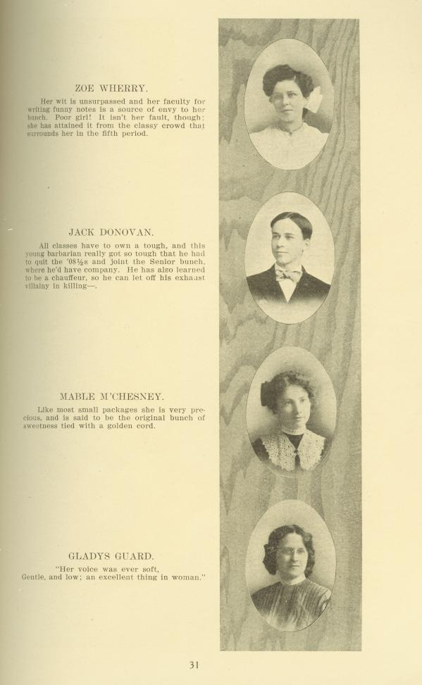 B H S 1908 Yearbook