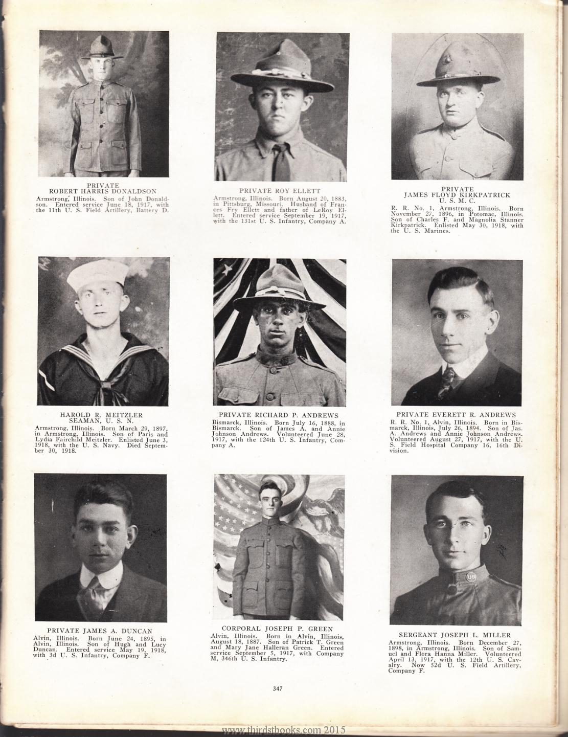 Illinois vermilion county armstrong - Everett R Andrews Page 347